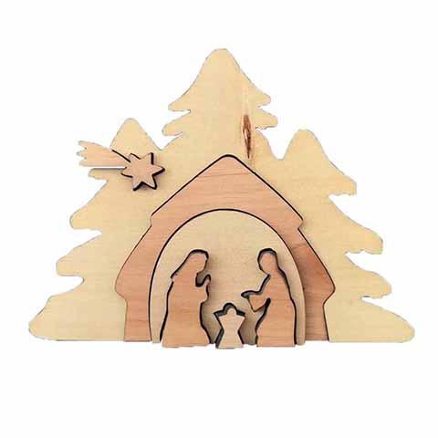 Holzkrippe mit Schiebe-Elementen