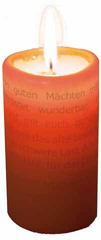 Textlicht-Kerze Bonhoeffer - Von guten Mächten