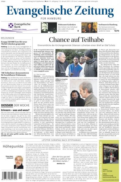 Evangelische Zeitung Jahresabo Print+Digital