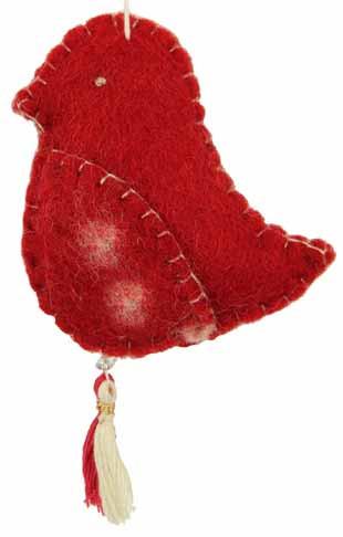 GEPA Filzanhänger Vogel rot