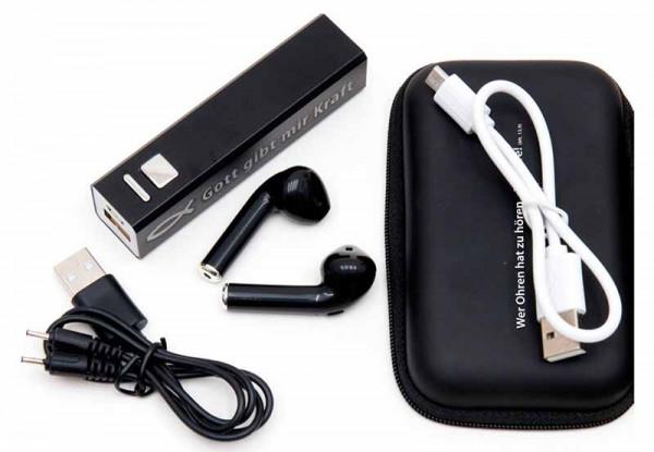 Wireless-Kopfhörer + Powerbank, Geschenkset