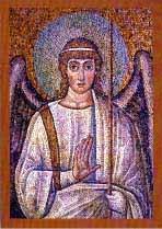 Klappkarte Engel-Mosaik