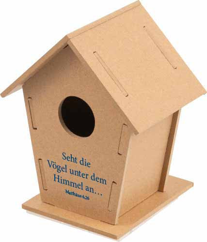 Vogelhaus aus Holz - Sehet die Vögel -