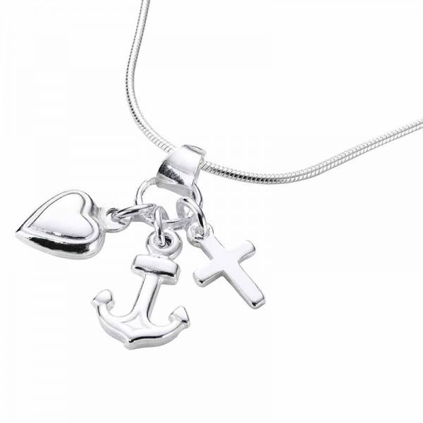 Silberkette Glaube Liebe Hoffnung