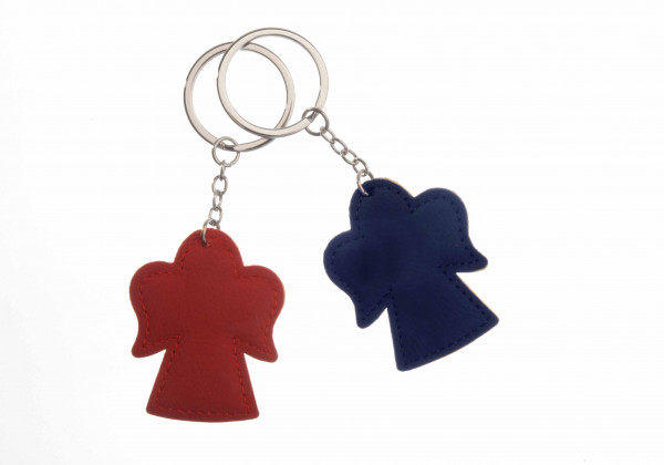 Schlüsselanhänger Engel rot blau