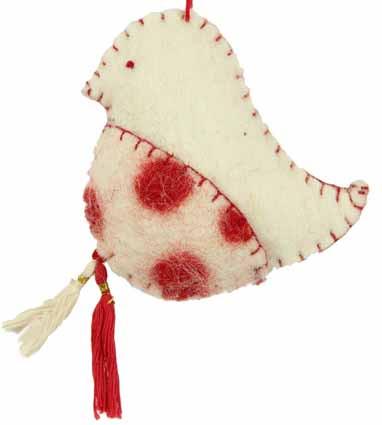 GEPA Filzanhänger Vogel weiß