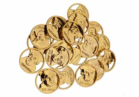 Luther-Coin, goldfarben