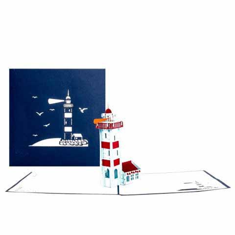 Pop-Up Karte Leuchtturm