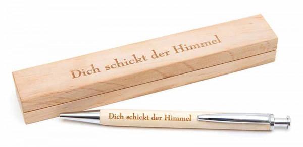 Holzkugelschreiber mit Etui - Dich schickt der Himmel