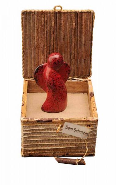 Geschenkbox Engel, rot